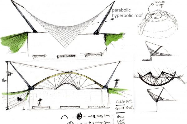 Landscape Concept Pavilion Roof