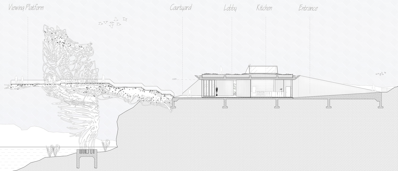 Section Villa and Viewing Platform