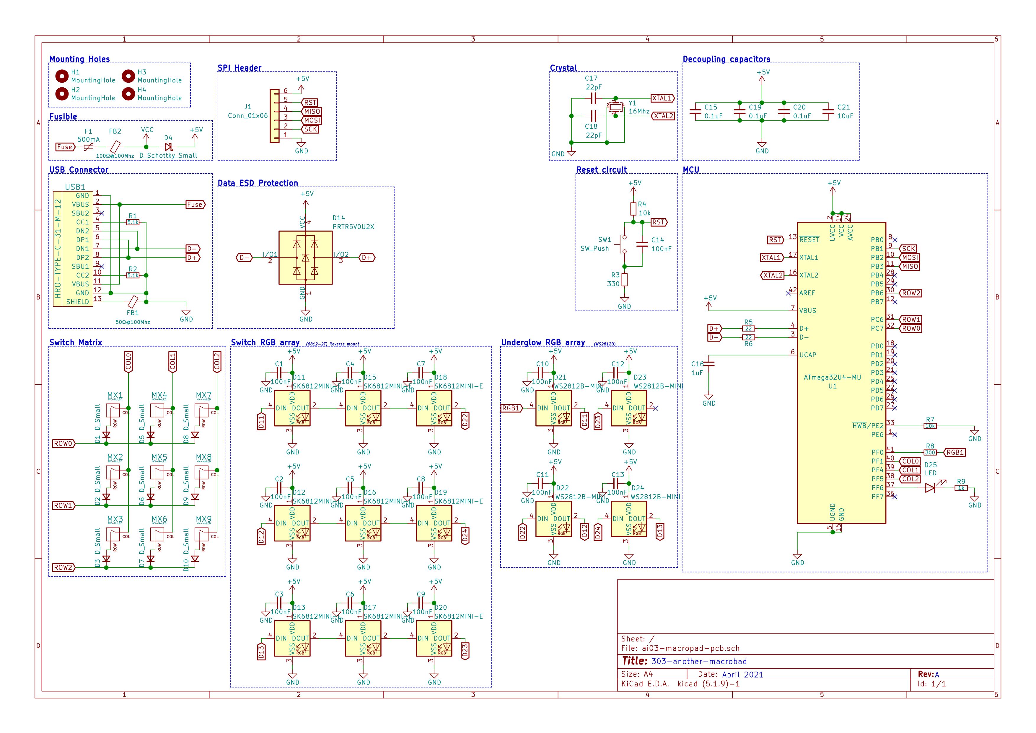 Jeremy Paton PCB Keyboard Macropad Schematic